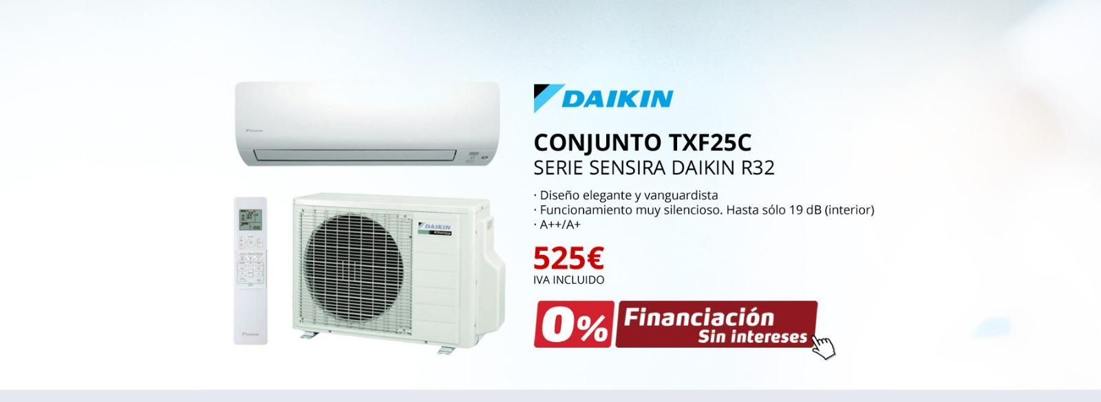 CONJUNTO TXF25C - SERIE SENSIRA DAIKIN R32