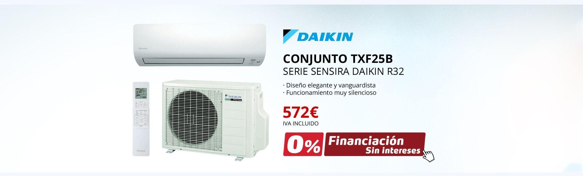 CONJUNTO TXF25B - SERIE SENSIRA DAIKIN R32