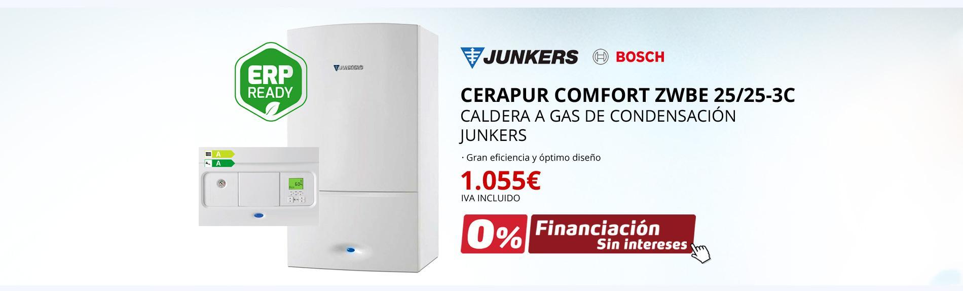 Cerapur Comfort ZWBE 25/25-3C - Caldera a gas de condensación Junkers