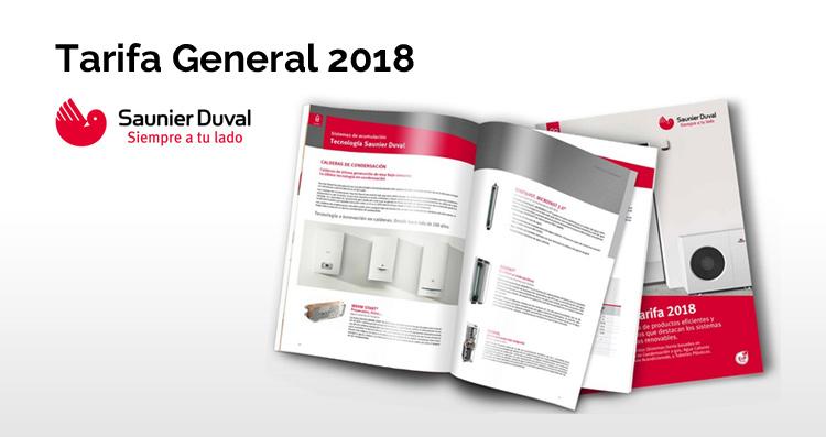 Saunier Duval Tarifa General 2018