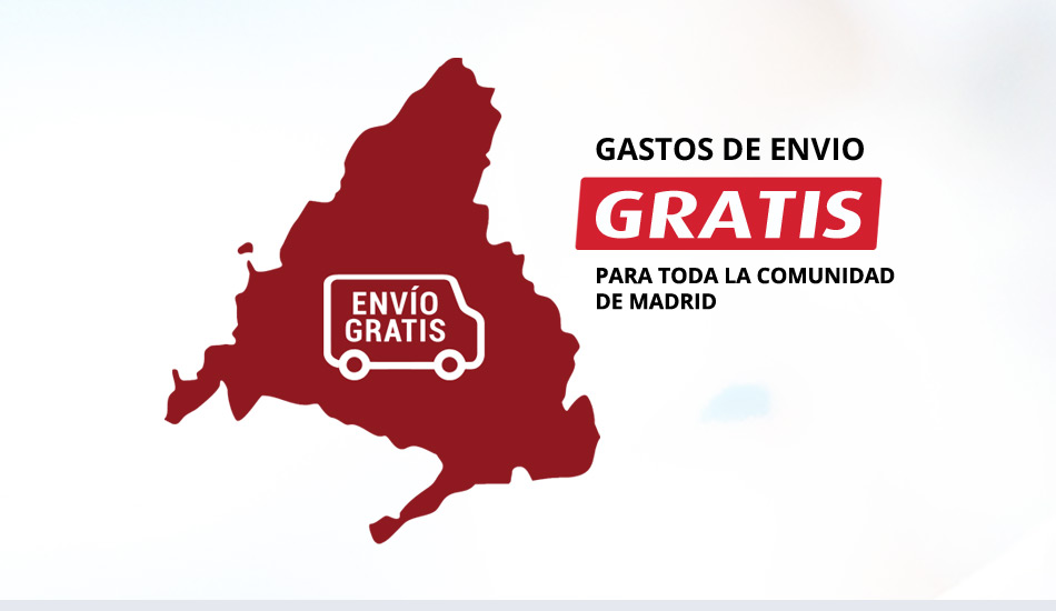 Gastos de envío GRATIS para toda la Comunidad de Madrid