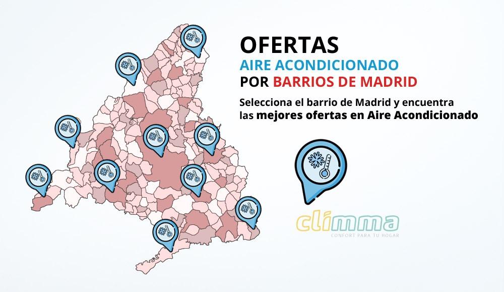 Ofertas de Aire Acondicionado por barrios de Madrid
