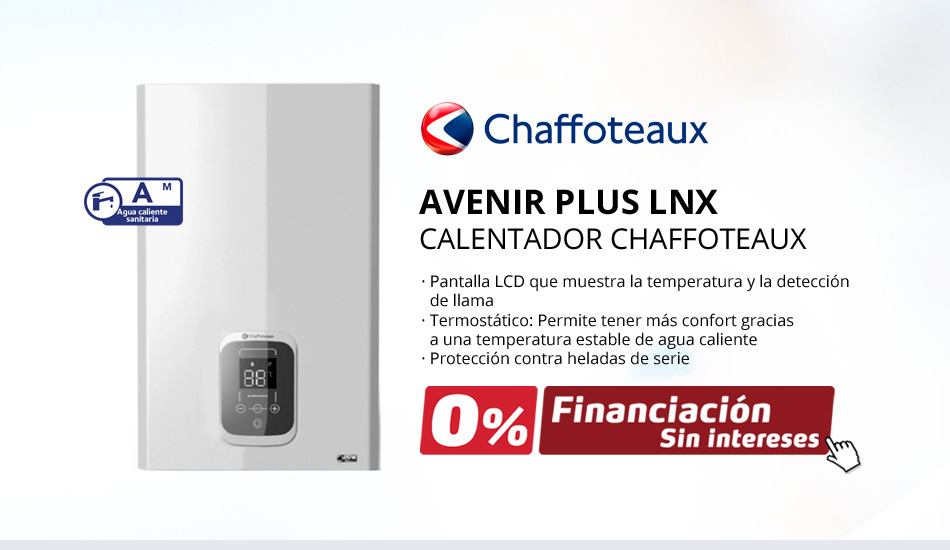 Nuevos Calentadores de Gas Chaffoteaux Avenir Plux LNX