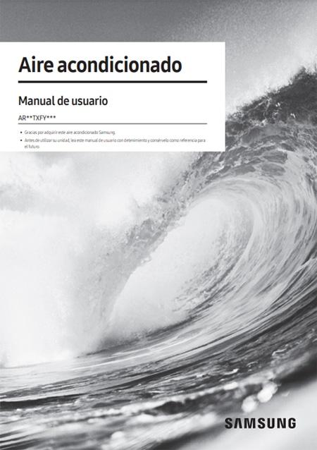 Manual usuario Aire Acondicionado Split Samsung Serie Cebú