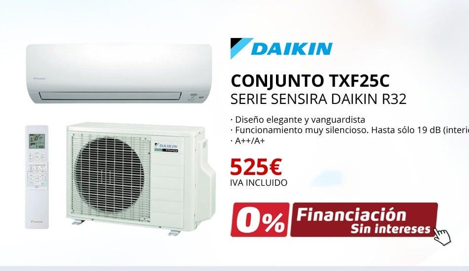 AIRE ACONDICIONADO DAIKIN CONJUNTO TXF25C - SERIE SENSIRA DAIKIN R32