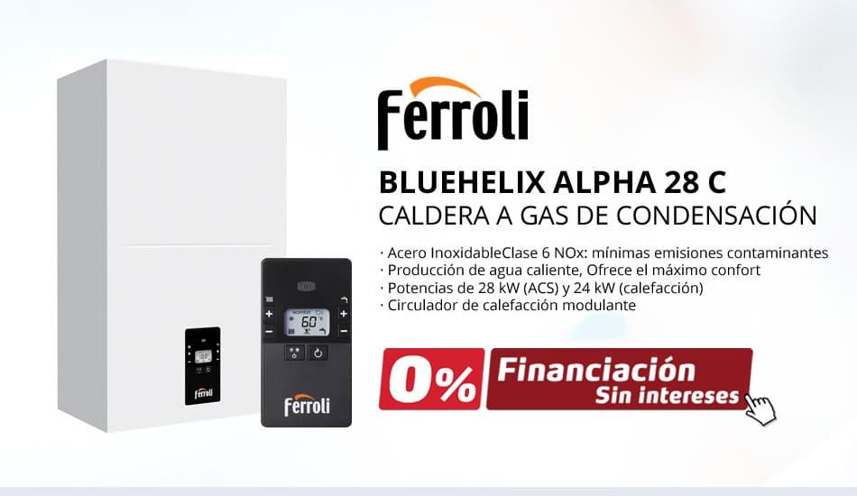 Nuevas Calderas Ferroli BLUEHELIX HITECH RRT 28 C – CALDERA A GAS DE CONDENSACIÓN FERROLI